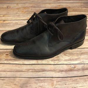 JOHN VARVATOS Brown Leather Chukka Ankle Boots 9